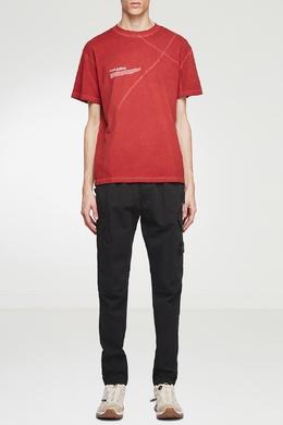 Красная футболка с контрастной отделкой A-Cold-Wall* 2876165563