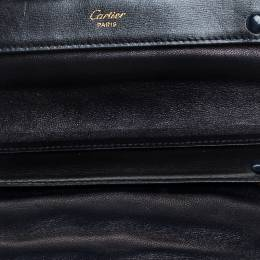 Cartier Black Leather Sapphire Line Jewelry Wallet
