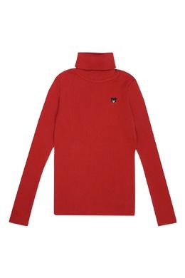 Красная водолазка с вышитым мишкой Miki House 3018166014