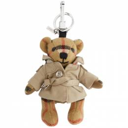 Burberry Beige Vintage Check Thomas Trench Keychain 8027168