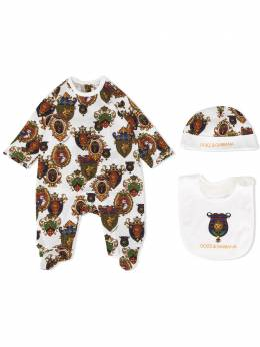 "Dolce & Gabbana Kids ""комплект из пижамы, шапки и нагрудника"" L1JG18G7TVY"