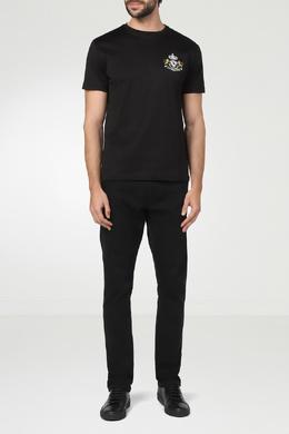 Черная футболка с бело-желтой вышивкой Billionaire 1668156199