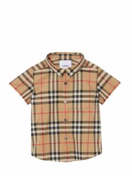 S/s Check Cotton Shirt Burberry 71I937015-QTcwMjY1