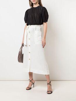 Ulla Johnson блузка Emmie с вышивкой и объемными рукавами HO190201