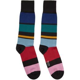 Paul Smith Multicolor Victor Stripe Socks 201260M22009901GB