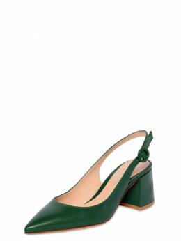 60mm Leather Sling Back Pumps Gianvito Rossi 71IAI4011-TEVBRg2