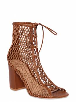 85mm Mesh & Leather Ankle Boots Gianvito Rossi 71IAI4007-Q1VPSU81