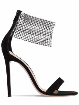 105mm Embellished Suede Sandals Gianvito Rossi 71IAI4005-QkxBQ0s1
