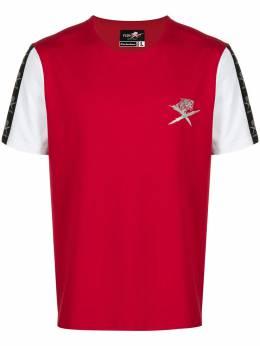 Plein Sport футболка с контрастными рукавами F19CMTK3462SJY001N
