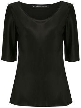 Gloria Coelho атласная блузка 20VGI763