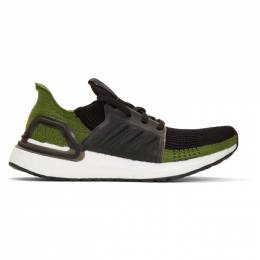 Adidas Originals Black and Green Ultraboost 19 Sneakers 192751M23711411GB