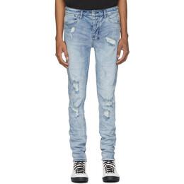 Ksubi Blue Van Winkle Trashed Dreams Jeans 201088M18602504GB