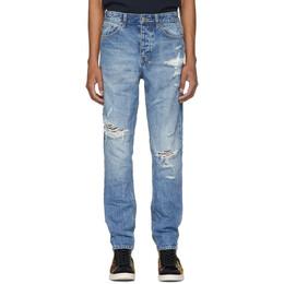 Ksubi Blue Wolf Gang Klub Krushed Jeans 201088M18601409GB