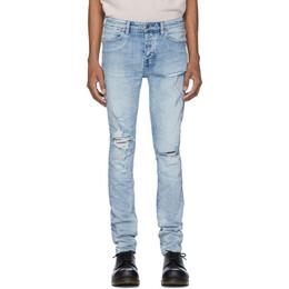 Ksubi Blue Van Winkle Punk Blue Trashed Jeans 201088M18602201GB
