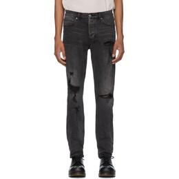 Ksubi Black Chitch Rat Angst Trashed Jeans 201088M18601706GB