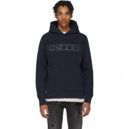 Ksubi Navy Sign Of The Times Hoodie 201088M20202104GB