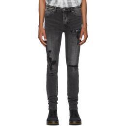 Ksubi Black Van Winkle Rat Angst Trashed Jeans 201088M18601602GB