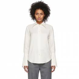 Studio Nicholson Off-White Line Shirt 192608F10900204GB