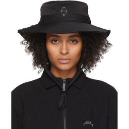 A-Cold-Wall* Black Logo Bucket Hat 192891F01500101GB
