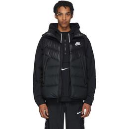 Nike Black Down Windrunner Vest 201011M17809704GB