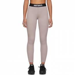 Nike Beige Rib Leggings 201011F08510703GB