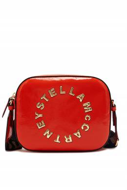 Ярко-красная сумка Stella Logo Stella McCartney 193164999