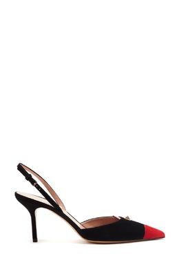 Комбинированные замшевые слингбэки Valentino 210163941