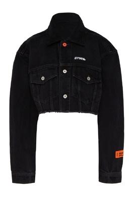 Укороченная джинсовая куртка черного цвета Heron Preston 2771166557