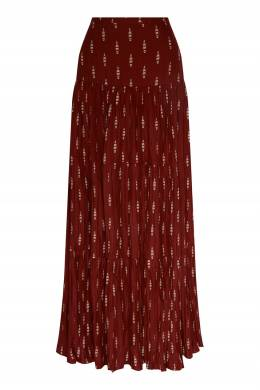 Бордовая миди-юбка Johanna Ortiz 2942166543
