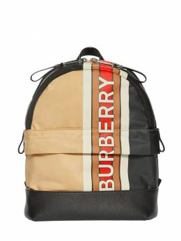 Logo Print Nylon Backpack Burberry 71I1US017-QTcwMjY1