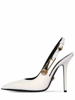 110mm Leather Sling Back Pumps Versace 71IWTY011-SzBBT0g1
