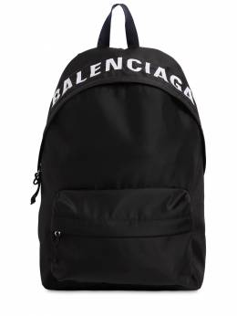 Logo Embroidered Nylon Back Pack Balenciaga 71IOFX013-MTA5MA2