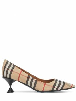 55mm Lillyton Check Cotton Pumps Burberry 71IG4S006-QTcwMjY1
