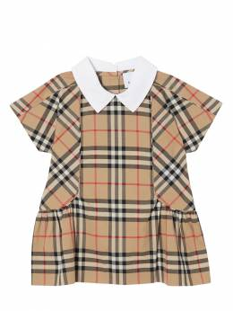 Check Cotton Dress Burberry 71I937034-QTcwMjg1