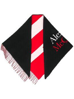 Alexander McQueen шаль в полоску с логотипом 5959494C07Q
