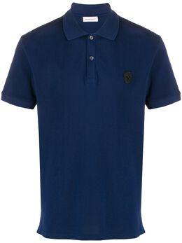 Alexander McQueen рубашка-поло с нашивкой 609228QOX33
