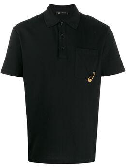 Versace рубашка-поло с декоративной булавкой A84475A231240