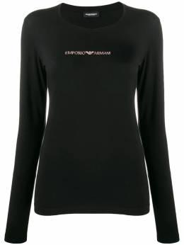 Emporio Armani футболка с декорированным логотипом 1632299A263