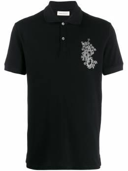 Alexander McQueen рубашка-поло с вышитым логотипом 599595QOZ72