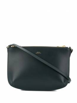 A.P.C. dark green Sarah bag PXBGOF61404