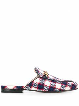 Gucci Princetown checked tweed loafers 475094G2020