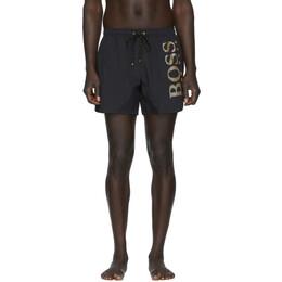 Boss Black and Gold Icefish Swim Shorts 201085M20808504GB