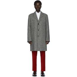 Hugo Black and White Malte 1941 Coat 201084M17609704GB