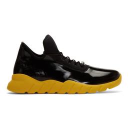Fendi Black and Yellow Forever Fendi Runner Sneakers 201693M23701608GB