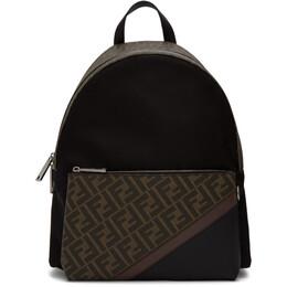 Fendi Black Forever Fendi Fabric Backpack 201693M16606101GB