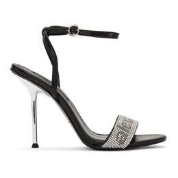 Alexander Wang Black Jane Crystal Sandals 201187F12507105GB