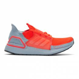 Adidas Originals Orange and Blue UltraBoost 19 Sneakers 192751M23711703GB
