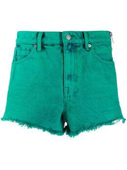 Alexander Wang джинсовые шорты с бахромой 4DC1204612