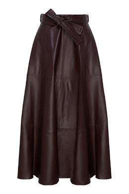 Плиссированная кожаная юбка с поясом Resistance Zimmermann 1411166792