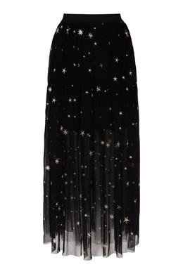 Черная миди-юбка со звездами Maje 888166775